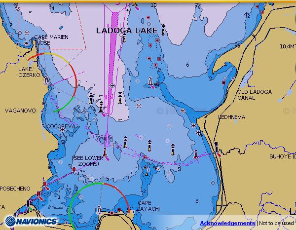 карта ладоги для lowrance